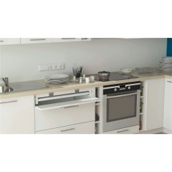 Space-saving table system VIALEX BENJAMIN for the kitchen, bedroom, and office.
