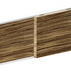 VIALEX 1 ΣΕΤ: Μηχανισμός για 2 συρόμενες πόρτες ντουλάπας.