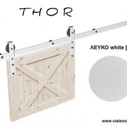 THOR: Μηχανισμός για συρόμενες ξύλινες πόρτες αχυρώνα έως 120 kg.